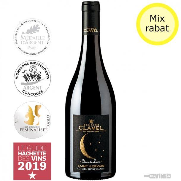 Domaine Clavel 'Clair de lune' Côtes du Rhône Villages Saint Gervais Rouge 2016